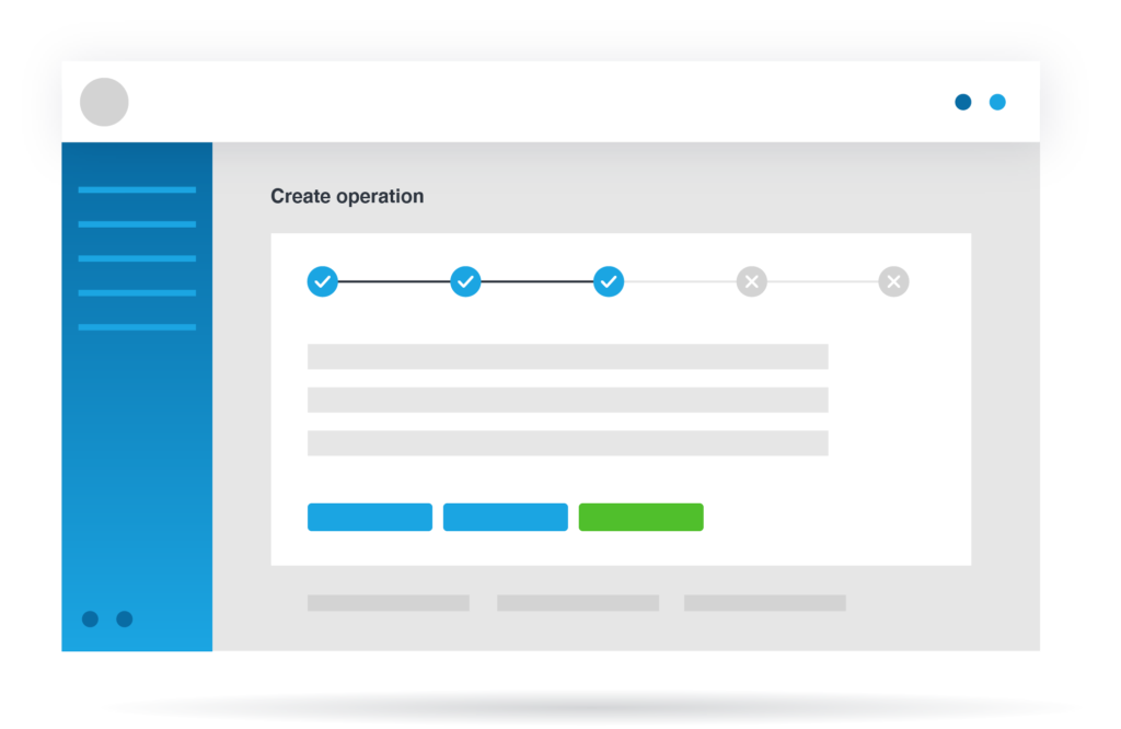 create operation overview on platform